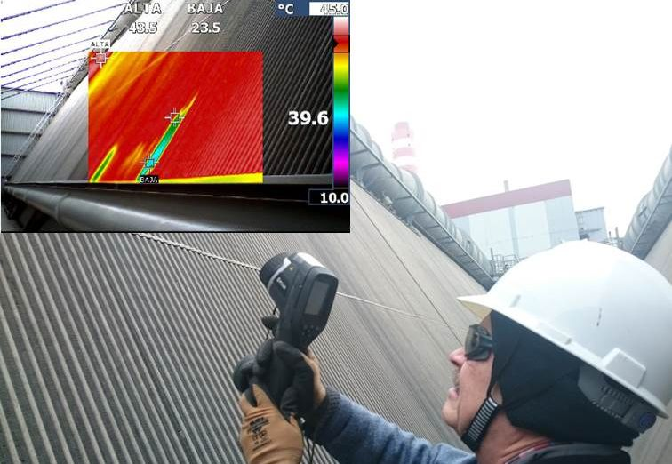 Heat exchanger bundle inspection with infrared-camera by ENEXIO Service