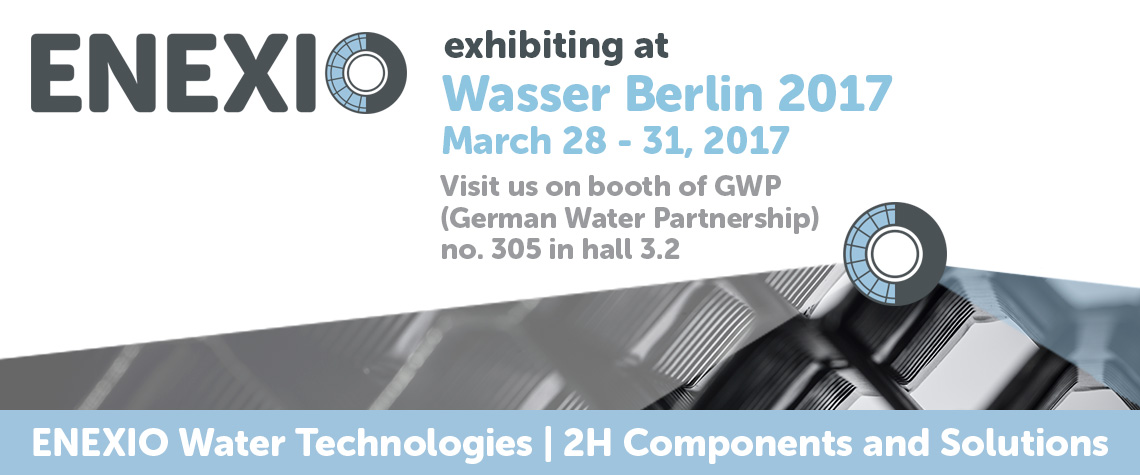ENEXIO 2H Water Technologies exhibiting at Wasser Berlin 2017