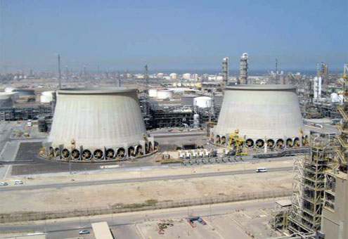 Seawater cooling tower in Kuwait